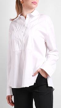 Белая рубашка Patrizia Pepe с длинным рукавом, фото
