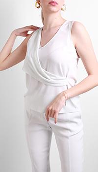 Белая блузка Patrizia Pepe с драпировкой, фото