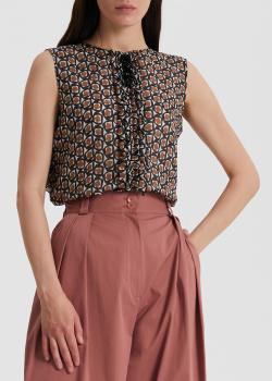 Блузка без рукавов S Max Mara свободного кроя, фото