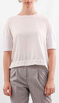 Льняная блуза Fabiana Filippi с кулиской, фото