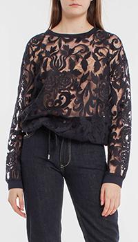 Прозрачная блуза Riani с вышитым узором, фото