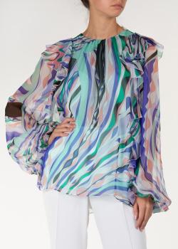 Блуза с воланами Emilio Pucci свободного кроя, фото