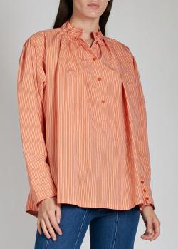Оранжевая рубашка Alberta Ferretti в полоску, фото