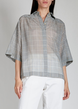Серая рубашка Agnona с широкими рукавами, фото
