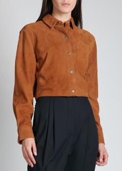 Замшевая рубашка Rag & Bone коричневого цвета, фото