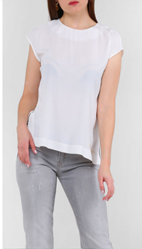 Белая блузка Cavalli Class с коротким рукавом, фото