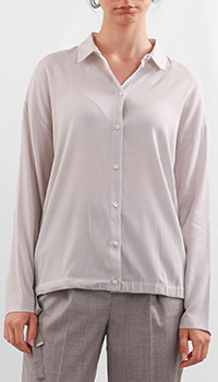Светло-серая рубашка Fabiana Filippi из шелка, фото