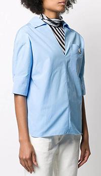Голубая рубашка Marni с коротким рукавом, фото