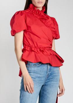 Блузка с бантом Alexa Chung красного цвета, фото
