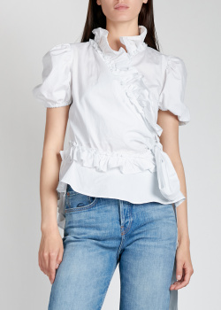 Белая блузка Alexa Chung с рюшами, фото