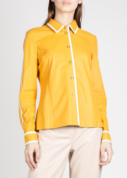 Кожаная рубашка Drome желтого цвета, фото