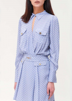 Блуза-боди Elisabetta Franchi голубого цвета, фото