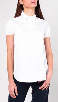 Белая рубашка Emporio Armani с коротким рукавом, фото