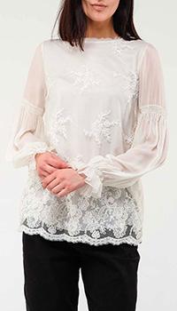 Шелковая блузка Ermanno Ermanno Scervino с кружевом, фото