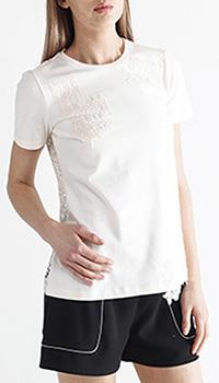 Белая блуза Ermanno Scervino с кружевом на спине, фото