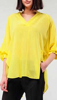 Шелковая блуза Ermanno Ermanno Scervino с широкими рукавами, фото