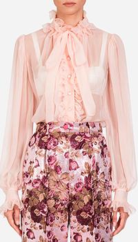 Шелковая блузка Dolce&Gabbana с жабо, фото