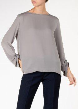 Шелковая блузка Fabiana Filippi свободного кроя, фото