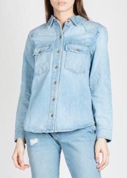 Джинсовая рубашка Frame Denim голубого цвета, фото