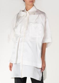 Шелковая блуза Nina Ricci с разрезами по бокам, фото
