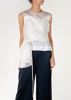 Белая блуза Nina Ricci без рукавов, фото