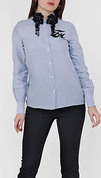 Рубашка Frankie Morello в полоску с декором, фото