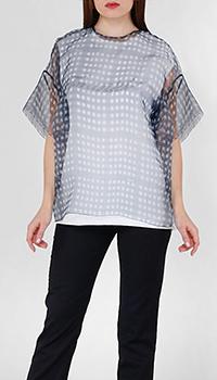 Блузка Frankie Morello с коротким рукавом и декором-стразами, фото