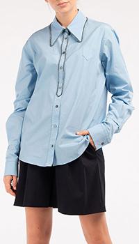 Рубашка N21 голубого цвета, фото