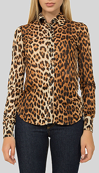 Рубашка N21 с леопардовым принтом, фото