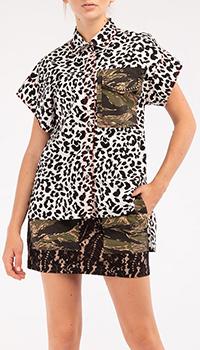 Рубашка N21 с животным принтом, фото