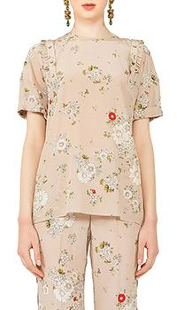 Шелковая блузка N21 с цветочным узором, фото