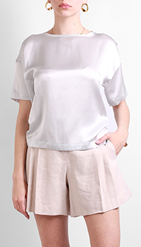 Шелковая блузка Max&Moi серого цвета, фото