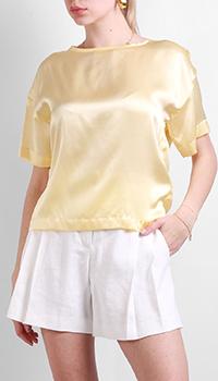 Желтая блузка Max&Moi из шелка, фото