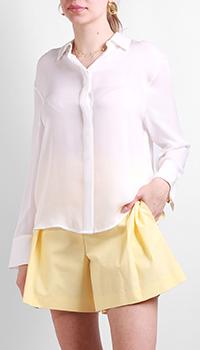 Белая рубашка Max&Moi из шелка, фото