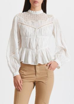 Белая блузка Isabel Marant с пышными рукавами, фото