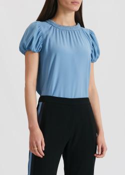 Голубая блуза Kenzo с рукавами-фонариками, фото
