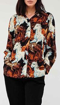 Рубашка Kenzo с рисунками лошадей, фото