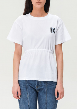Белый топ Kenzo с вырезом на спине, фото