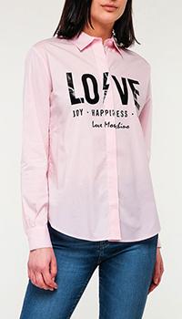Рубашка Love Moschino розовая, фото