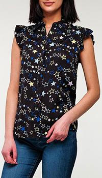 Блузка Love Moschino с принтом-звездами, фото