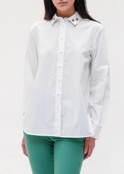 Белая рубашка Max Mara Weekend с декором на воротнике, фото