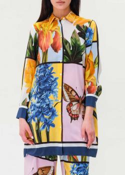Шелковая блуза Max Mara Weekend с ярким принтом, фото