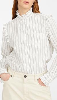 Полосатая рубашка Max Mara Weekend с рюшами, фото