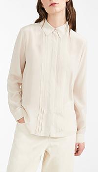 Шелковая блуза Max Mara Weekend молочного цвета, фото