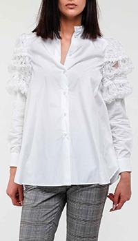 Белая блуза Max Mara Weekend с рукавами-фонариками, фото