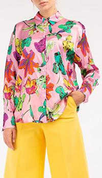 Розовая блузка MSGM с цветочным принтом, фото