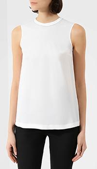 Шелковая блузка Brunello Cucinelli с коротким рукавом, фото