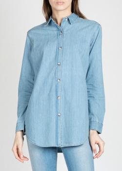 Джинсовая рубашка M.i.h Jeans голубого цвета, фото