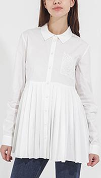 Белая рубашка Twin-Set со складками, фото