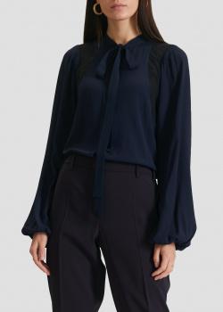 Синяя блузка N21 с пышными рукавами, фото